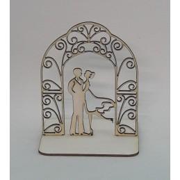3D Арка с младоженци-061